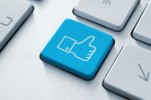 Thumb Up Like Button — Stock Photo