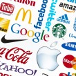 Stock Photo: Well-Known World Brand Logotypes