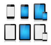Mobile telefone inteligente com tablet pc set — Fotografia Stock