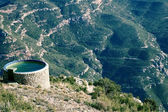 Mountain water tank — Stock Photo