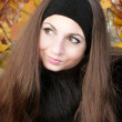 Portrait of young girl. Autumn — Stok Fotoğraf #9525240