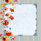 Floral ornamental frame — Stock Photo
