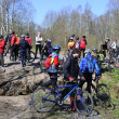 Zdjęcie stockowe: Cyclists relax biking outdoors