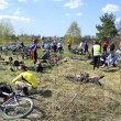 Cyclists relax biking outdoors — Stock fotografie #10504210