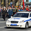 Mercedes police car, Nevsky Prospect — Stock Photo #10620646