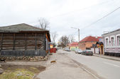 View of street in historic part of Polotsk — Stock Photo