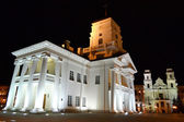 City hall in the Upper Town of Minsk at night — Stock Photo
