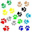 Paws pattern — Stock Vector