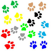 Paws pattern — Vector de stock