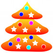 Decorated christmas tree — Stock Vector #7980114