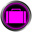 Royalty-Free Stock Vector Image: Button with a portfolio