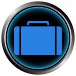 Button with a portfolio — Stock Vector