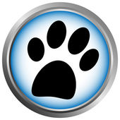 Paw button — Stock Vector