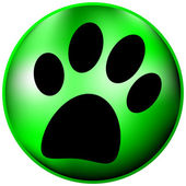 Paw button — Vector de stock