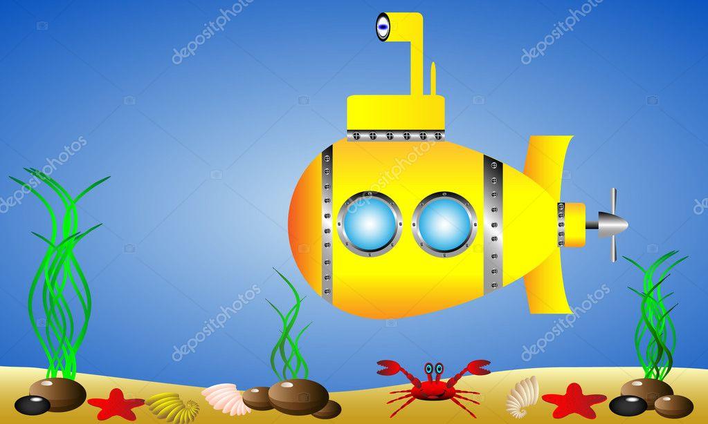 Желтая подводная лодка своими руками 14