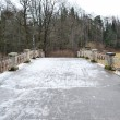 Stock Photo: Bridge through river Slav in Pavlovsk park