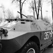 Soviet armored troop-carrier — Stock Photo
