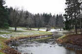 View of Slav river in Pavlovsk park — Stock Photo