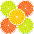 Stock Vector: Citrus fruit background - vector