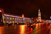 Night of St. Petersburg, Nevsky Prospekt — Stock Photo