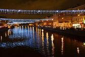 Fontanka river at night — Stock Photo