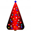 Stock Vector: Decorated christmas tree