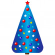 Decorated christmas tree — Stock Vector #8079453