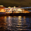 Fontanka river at night — Stock Photo