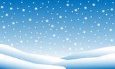 Snow fall — Stock Vector