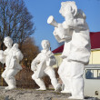 Sculptural group on street of Turov — Stock Photo #8159922