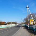 View of street in Turov — Stock Photo
