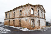 The ruins of a synagogue in Stolin — Foto Stock
