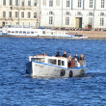 Water transport in Saint Petersburg — Stock Photo