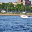 Boat floats on river Neva — Photo #8282984