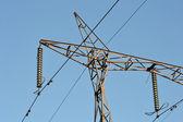 Fragment z elektřiny pylonu — Stock fotografie