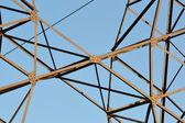 Fragment of electricity pylon — Stock Photo