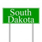 South Dakota green road sign — Stock Vector