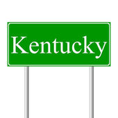 Kentucky green road sign — Stock Vector