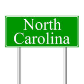 North Carolina green road sign — Stock Vector