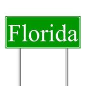 Florida green road sign — Stock Vector
