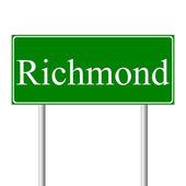 Richmond green road sign — Stock Vector