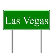 Panneau de signalisation vert de las vegas — Vecteur