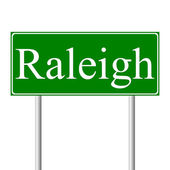 Raleigh green road sign — Stock Vector