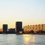 la rivière Neva et remblai d'octobre, Saint-Pétersbourg — Photo
