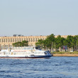 Stock Photo: Boat floats on river Neva