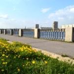 View of embankment Neva river, St.Petersburg — Stock Photo