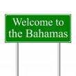 Welcome to Bahamas, concept road sign — Stock Vector #8367022