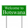 Welcome to Botswana, concept road sign — Stock Vector