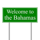 Welcome to Bahamas, concept road sign — Stock Vector