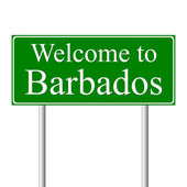 Welcome to Barbados, concept road sign — Stock Vector